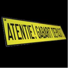Atentionare: Gabarit depasit