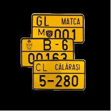 Placi de inregistrare pentru mopede (scutere), Certificat de inregistrare