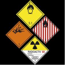 Placi / etichete ADR pentru diverse tipuri de substante