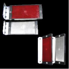 Placutele reflectorizante cu catadioptri de TIP « L » - simpla sau dubla fata pentru parapet din beton