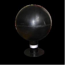Bolarzi sferici cu folie neagra reflectorizanta (h= 415mm)