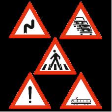 Indicatoare rutiere triunghiulare reflectorizante
