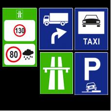 Indicatoare rutiere dreptunghiulare