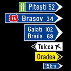 Indicatoare rutiere tip sageata