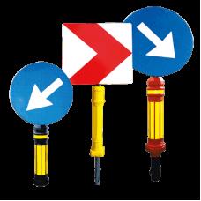 Ansambluri reflectorizante pentru semnalizarea zonelor/obstacolelor deosebit de periculoase