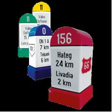 Indicatoare kilometrice (borne) pentru drumuri nationale, judetene, comunale, vicinale si de exploatare